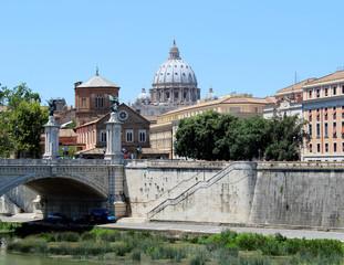 Rom Impressionen mit Tiber und Petersdom