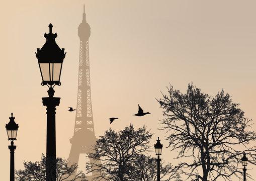 Silhouette_Tour_Eiffel_Champ de Mars