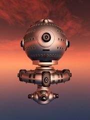 Raumschiff in der Marsatmosphäre