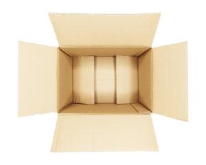 Versandkarton isoliert auf weiß