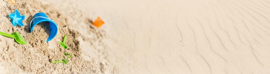 bannière vacances à la plage Fototapete