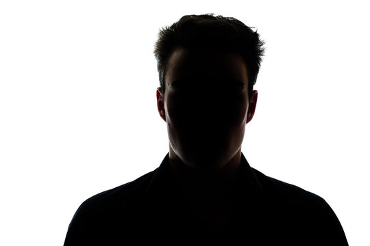 Man figure in silhouette