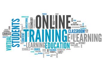 "Word Cloud ""Online Training"""