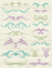 decorative elements, vector