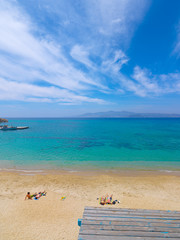 Fototapete - Greece,coastal beach scenery at Naxos, a island of the Cyclades