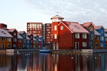 Fotomurales - colorful buildings in Netherlands