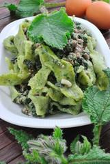 Maltagliati  / Tagliatelle verdi alla borragine