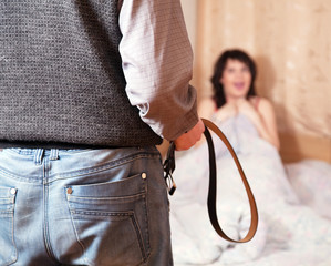 couple having quarrel about adultery