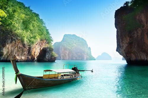 природа деревья река лодки Тайланд страны без смс