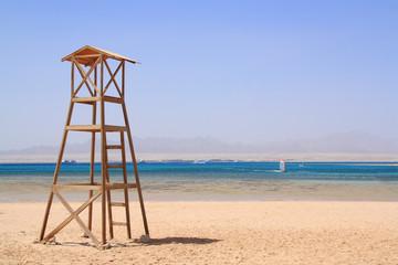 Rettungsturm am Strand