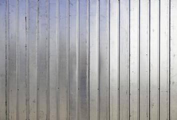 Shiny metal fence