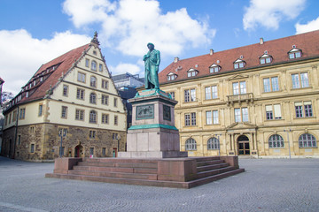 Schillers square in Stuttgart, Germany
