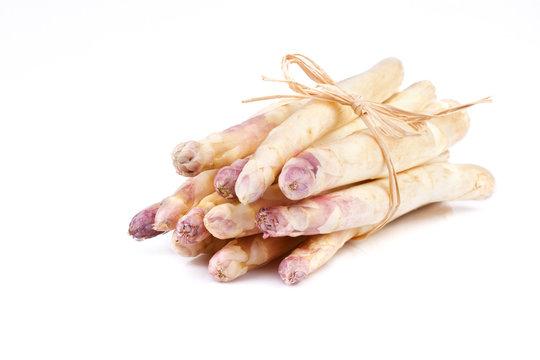 bundle of white asparagus