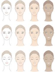 ビューティー 肌 顔  Chart of Beautiful Woman complexion