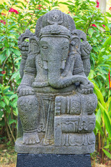 Stone sculpture of indian god ganesh