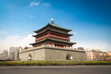 Keuken foto achterwand Xian xian bell tower in the center of the ancient city