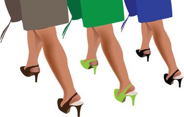 donne  a passeggio