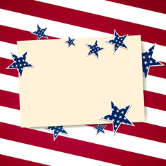 Vector Illustration of a 4th of July Independence Day Design