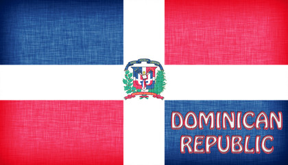 Linen flag of the Dominican Republic