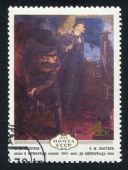 Lenin return to Petrograd by Alexander Lopuhov