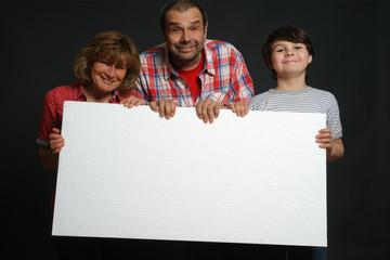 Familie mit Textfreiraum