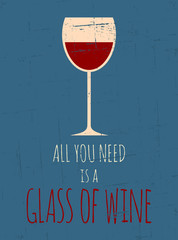 Poster Affiche vintage Retro Red Wine Poster