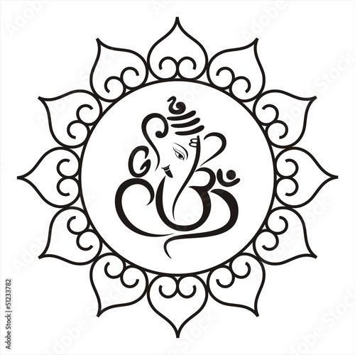 Ganesha Hindu Wedding Card Royal Rajasthan India Stock Image And