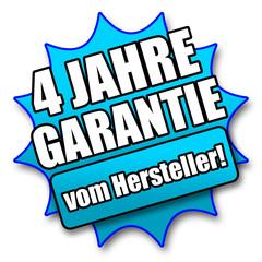 """Siegel """"4 Jahre Garantie vom Hersteller!"""""""