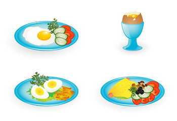 Dishes with egg