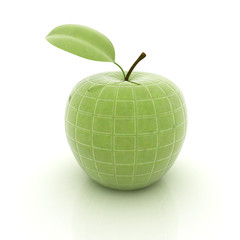 abstract apple with leaf