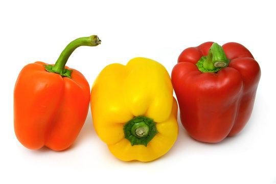 Drei Paprika Schoten