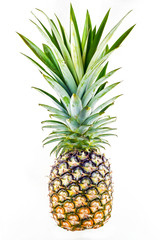 object on white - raw pineapple isolated