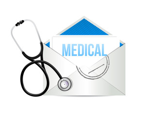 mail form a doctor with a Stethoscope
