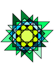 Mystic greenish stained glass