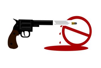 gun shooting ban symbol