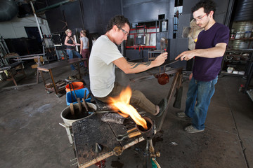 Glass Artists Working Together