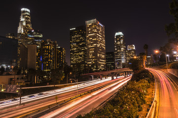 Long Exposure Shot In Los Angeles at Night