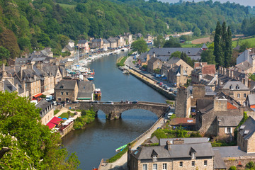 Dinan, Brittany, France - Ancient town on the river Wall mural