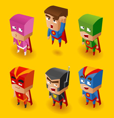 Papiers peints Super heros Superhero Set