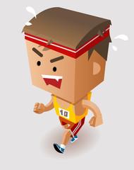 Fotobehang Superheroes Marathon Player Running