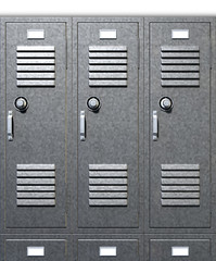 Grey School Lockers Front