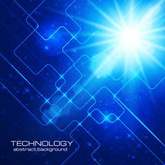 Abstract hi-technology blue background.