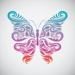 Decorative Butterfly Rainbow