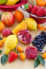 Various fresh fruits in plenty
