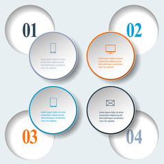 Abstract paper infografics. Internal and external data concept
