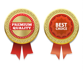 Premium Quality and Best Choice Label