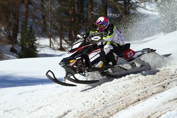 Fototapete - motoslitta da competizione