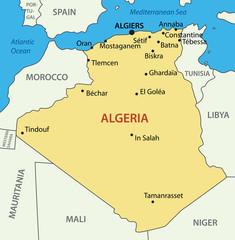 The People's Democratic Republic of Algeria - vector map