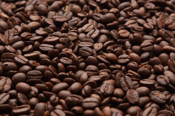 background of roast coffee beans