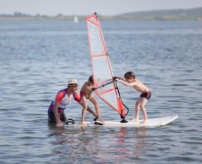 Windsurfing fun